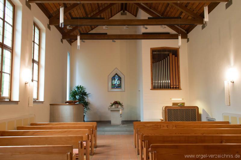 Hergiswil Reformierte Kirche Altarraum