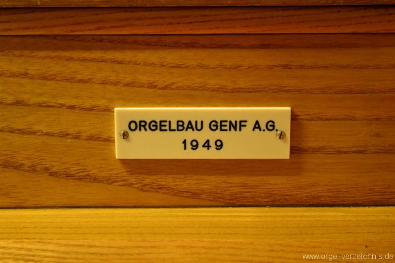 Hergiswil Reformierte Kirche Firmenschild