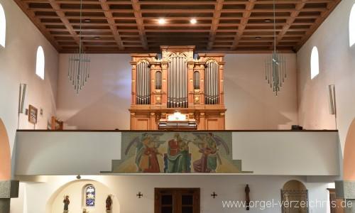 Emmetten St. Theresia und Jakob Orgelprospekt