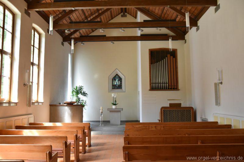 Hergiswil NW Reformierte Kirche Prospekt Genf Erni Orgel II
