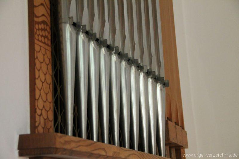Hergiswil NW Reformierte Kirche Prospekt Genf Erni Orgel III
