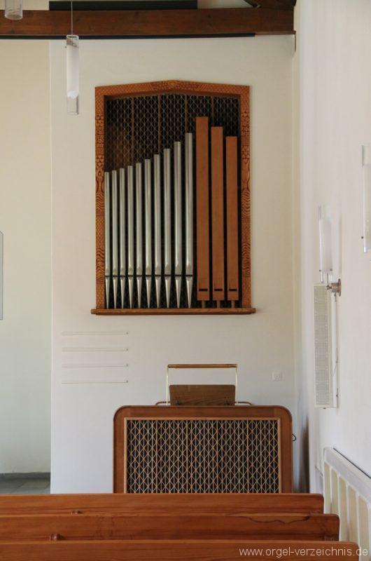 Hergiswil NW Reformierte Kirche Prospekt Genf Erni Orgel IV