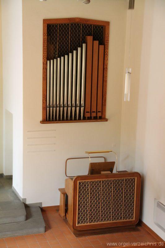 Hergiswil NW Reformierte Kirche Prospekt Genf Erni Orgel V