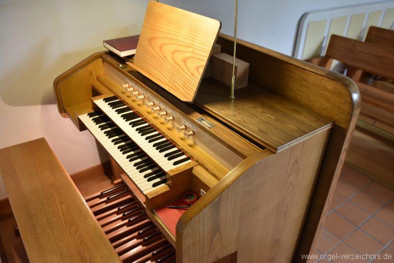 Hergiswil NW Reformierte Kirche Spieltisch Genf Erni Orgel I