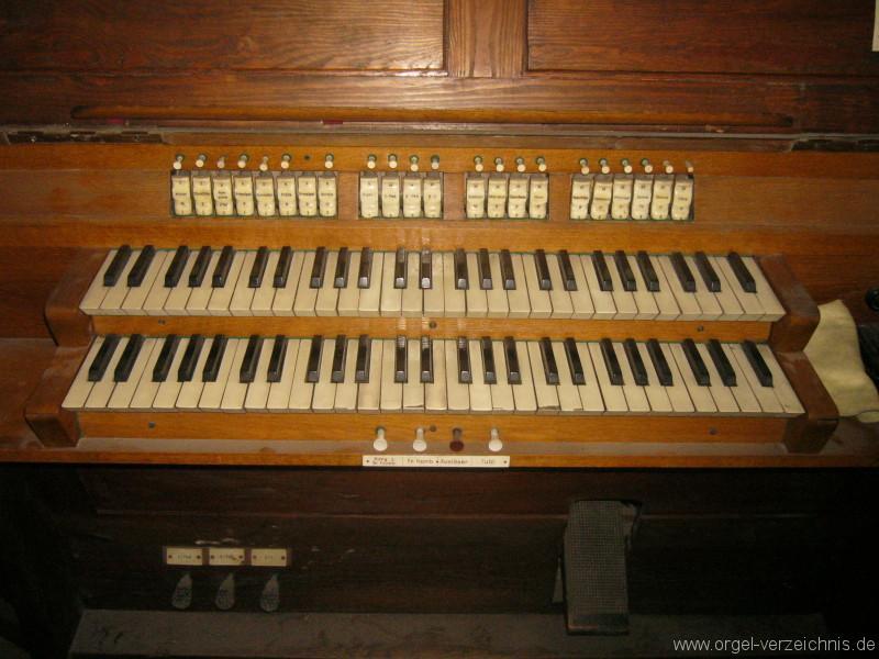 Jena – Stadtkirche St. Michael .- Orgel Spieltisch
