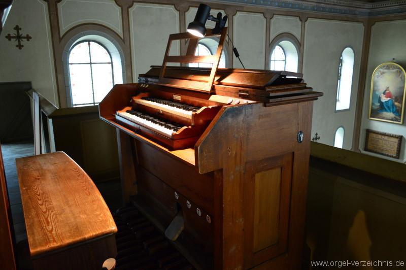 Zell im Wiesental – Altkatholische Christuskirche Orgel Spieltisch