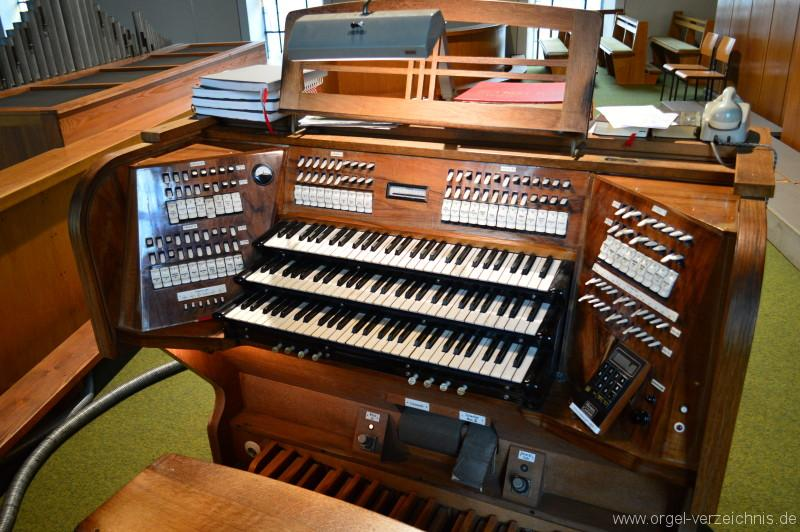 Zell im Wiesental – St. Fridolin - Orgel - Spieltisch