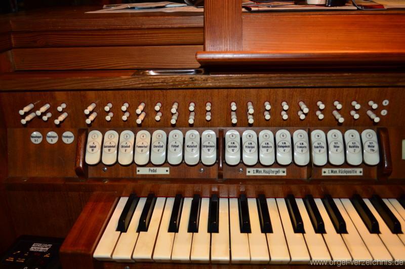 Zell im Wiesental/Atzenbach – St. Mariä Himmelfahrt Orgel Spieltisch