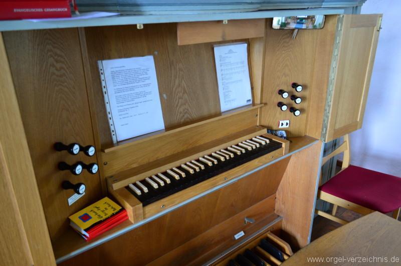 Büdingen/Rohrbach – Evangelische Nikolauskirche Orgel Spieltisch