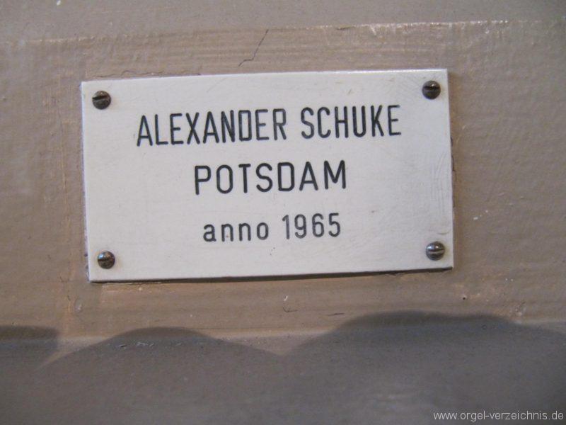 Beeskow Marienkirche Firmenschild