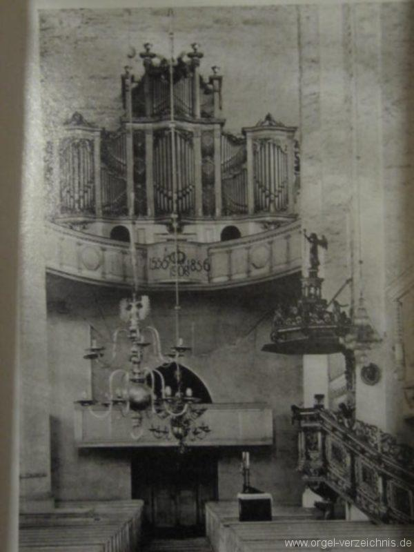 Beeskow Marienkirche Prospekt der Marxorgel