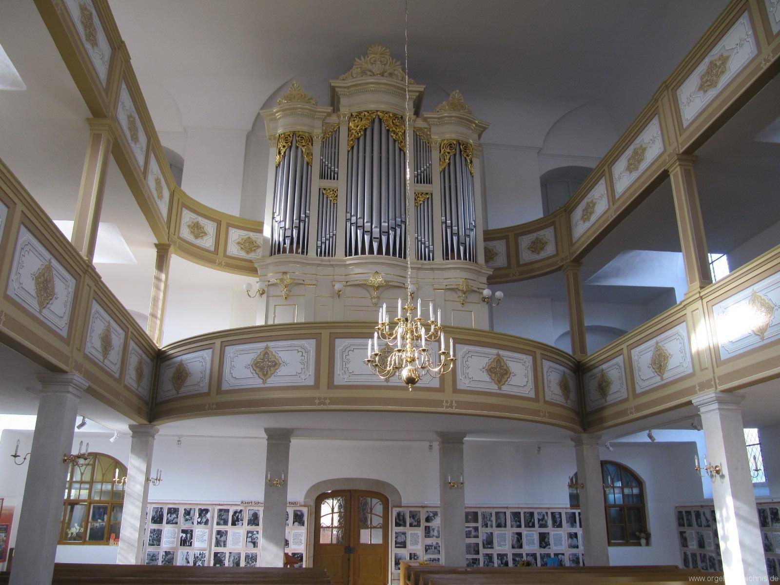 Königstein (Sächsische Schweiz) Evangelische Stadtkirche St. Marien Hauptorgel Gehäuse II