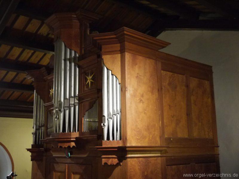 Schönefeld Grossziethen Dorfkirche Orgelansicht Seite