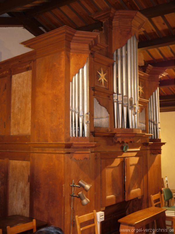Schönefeld Grossziethen Dorfkirche Orgelansicht Seite II