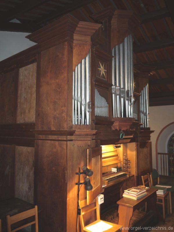 Schönefeld Grossziethen Dorfkirche Orgelansicht Seite III