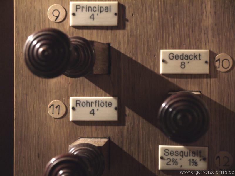 Schönefeld Grossziethen Dorfkirche Registerstaffel