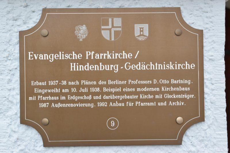 Stetten am kalten Markt Evangelische Hindenburg Gedächtniskirche  Aussentafel