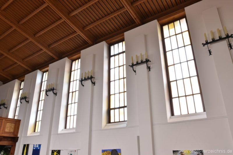 Stetten am kalten Markt Evangelische Hindenburg Gedächtniskirche Fensterfront II