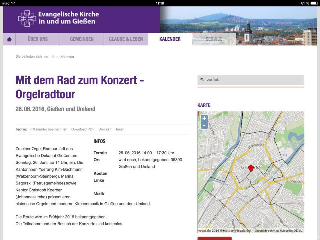orgelführung Gießen