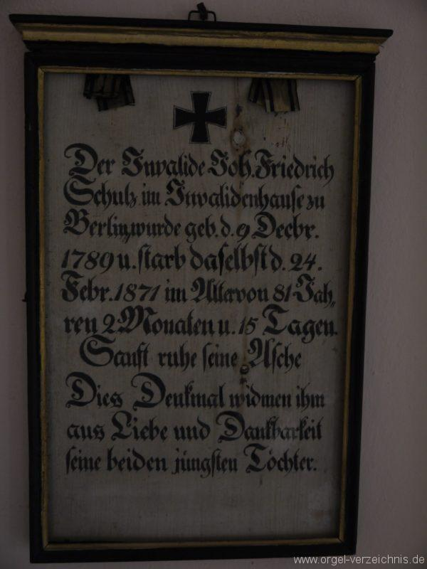 Königs Wusterhausen Dorfkirche Wernsdorf Denkmal