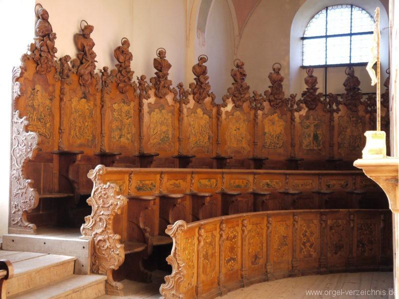 Maihingen ehemalige Klosterkirche Zur unbefleckten Empfängnis Gestühl