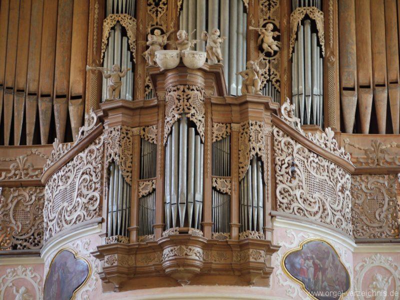 Maihingen ehemalige Klosterkirche Zur unbefleckten Empfängnis Orgelprospekt (1)