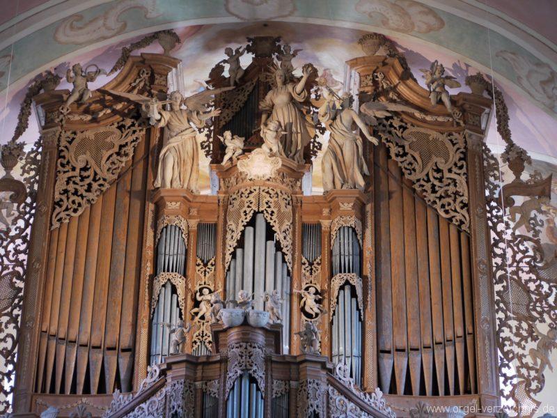Maihingen ehemalige Klosterkirche Zur unbefleckten Empfängnis Orgelprospekt (2)