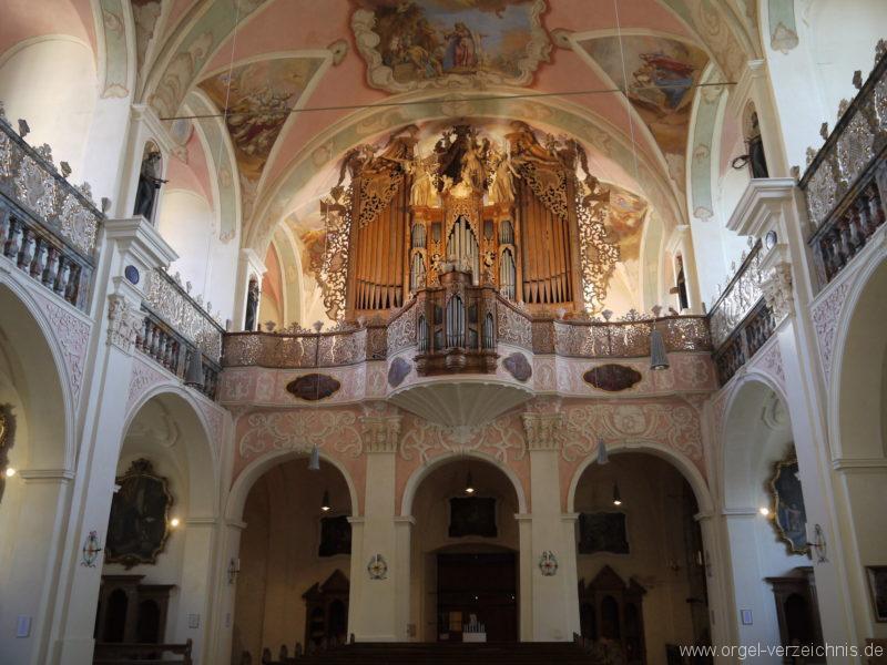 Maihingen ehemalige Klosterkirche Zur unbefleckten Empfängnis Orgelprospekt (3)