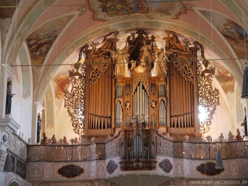 Maihingen ehemalige Klosterkirche Zur unbefleckten Empfängnis Orgelprospekt (4)