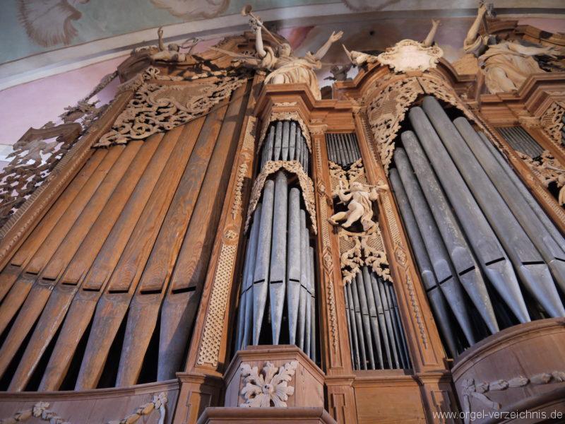Maihingen ehemalige Klosterkirche Zur unbefleckten Empfängnis Orgelprospekt (5)