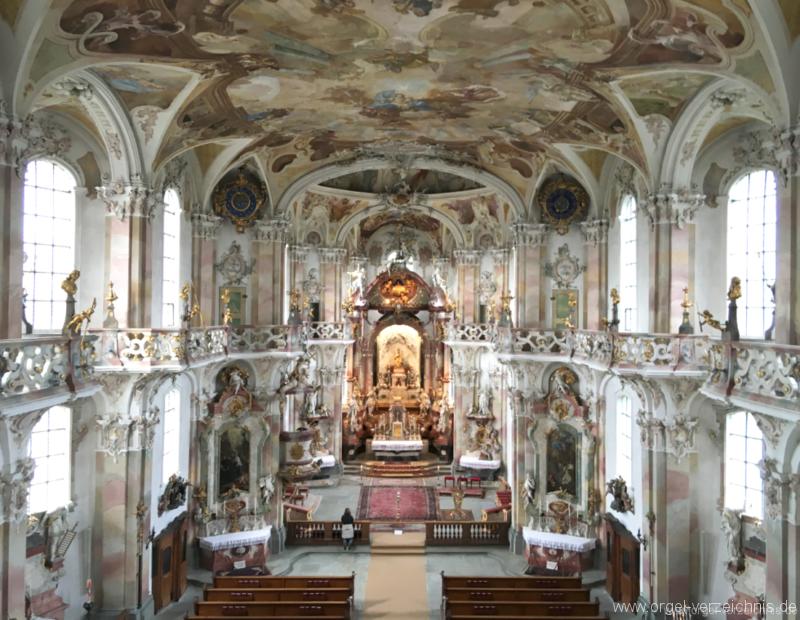 Birnau  Uhldingen-Mühlhofen - Wallfahrtskirche - Orgel (3)