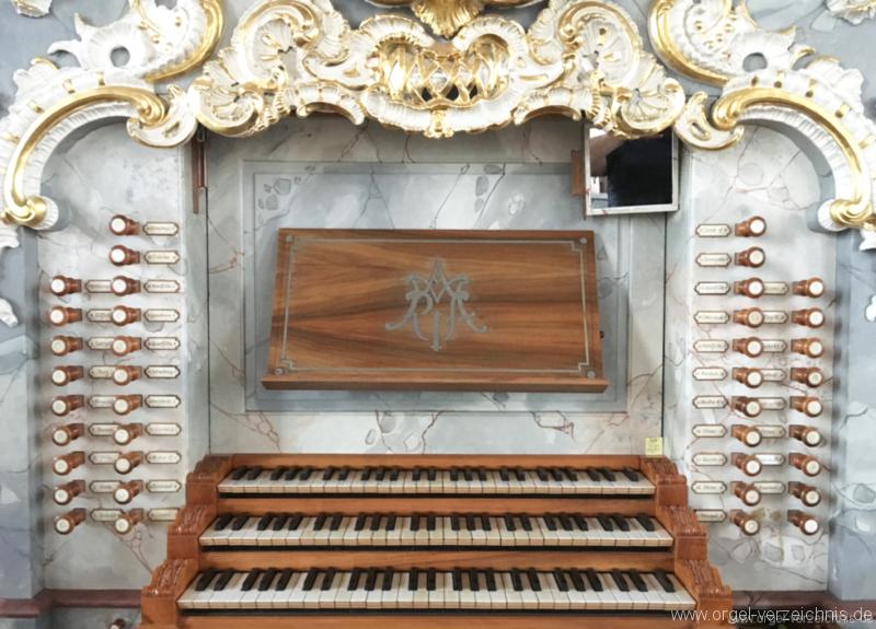 Birnau  Uhldingen-Mühlhofen - Wallfahrtskirche - Orgel- Spieltisch