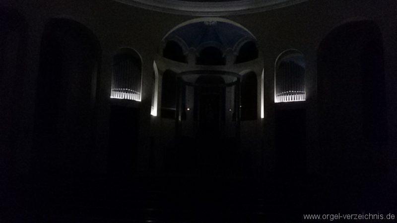 Bregenz Pfarrkirche Mariahilf Prospekt Orgel LED Beleuchtung (1)