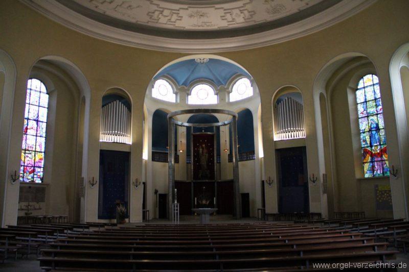 Bregenz Pfarrkirche Mariahilf Prospekt Orgel LED Beleuchtung (2)