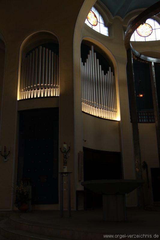 Bregenz Pfarrkirche Mariahilf Prospekt Orgel LED Beleuchtung (4)