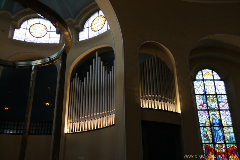Bregenz Pfarrkirche Mariahilf Prospekt Orgel LED Beleuchtung (5)
