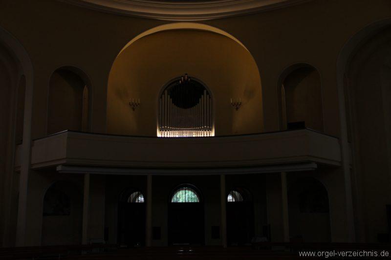 Bregenz Pfarrkirche Mariahilf Prospekt Orgel LED Beleuchtung (6)