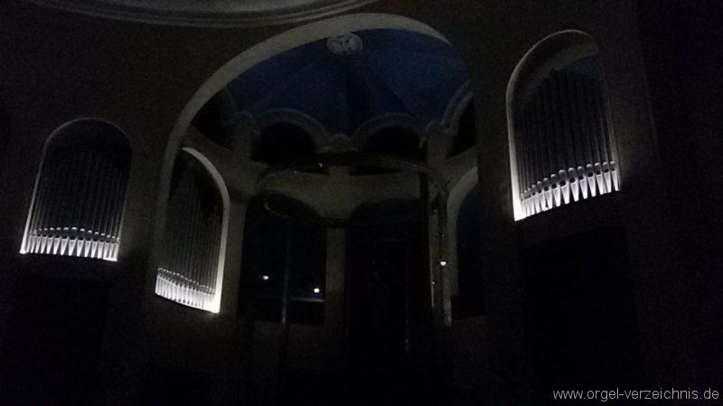Bregenz Pfarrkirche Mariahilf Prospekt Orgel LED Beleuchtung (8)