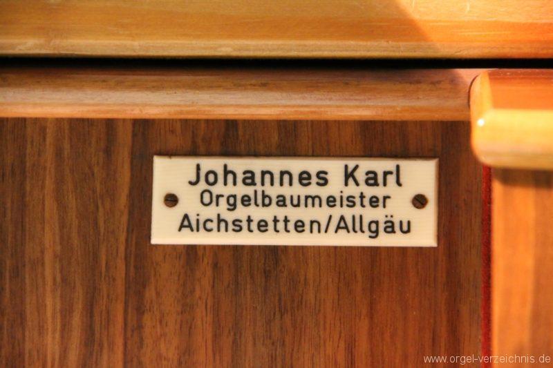 Dornbirn St. Martin Chororgel Firmenschild