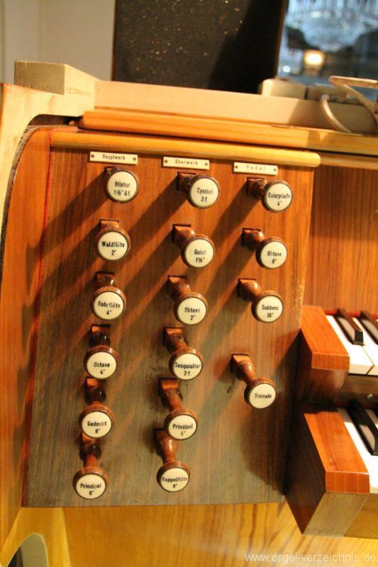 Dornbirn St. Martin Chororgel Spieltisch Register
