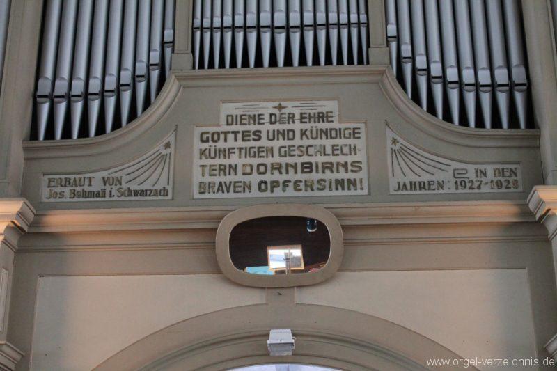Dornbirn St. Martin Hauptorgel Prospekt I