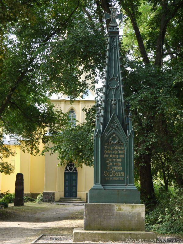 Großbeeren Evangelische Dorfkirche Denkmal Schinkel (2)
