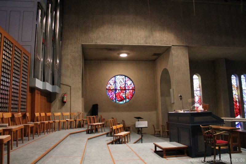 Lustenau Rheindorf Zum göttlichen Erlöser Emporenansicht