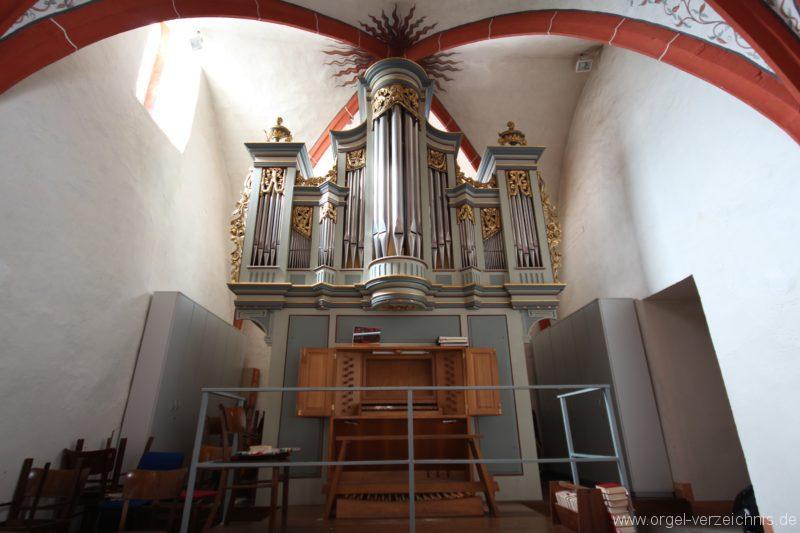 Schöler-Orgel mit Oberlinger-Spielschrank
