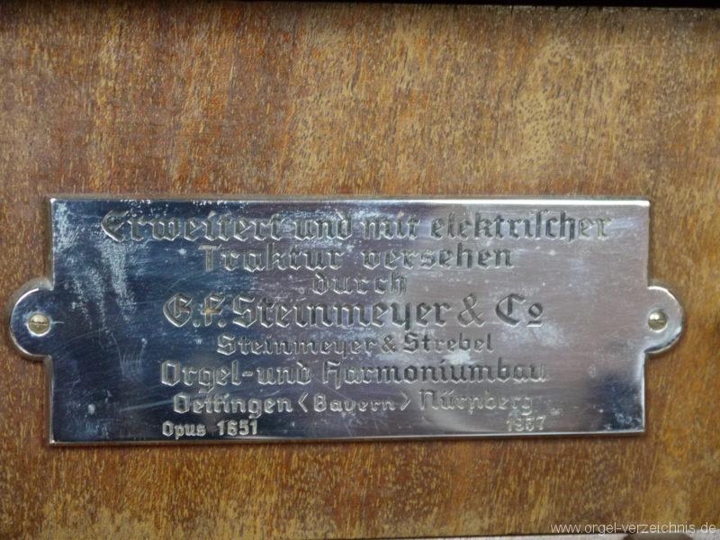 Berlin Oberschöneweide Christuskirche Firmenschild