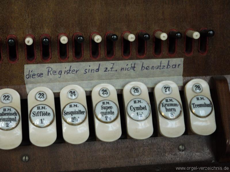 Berlin Oberschöneweide Christuskirche Spielhilfen und Registerstaffel (6)