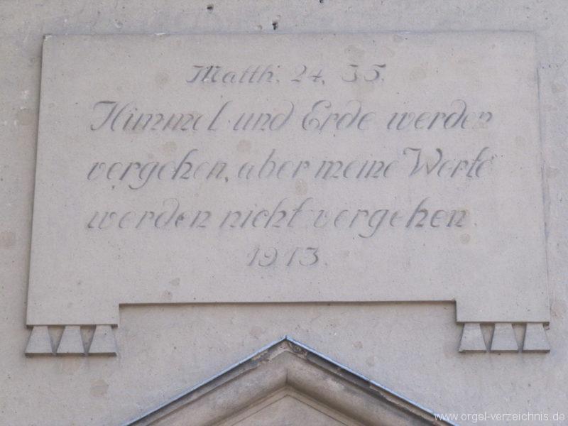 Gosen-Neu Zittau Evangelische Kirche Gosen Schrifttafeln (2)