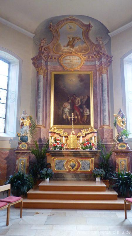 Hausen an der Möhlin St. Johannes Hochaltar mit Bild von Göser