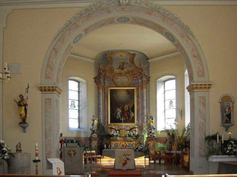 Hausen an der Möhlin St. Johannes Innenansicht III Nutzer Rauenstein