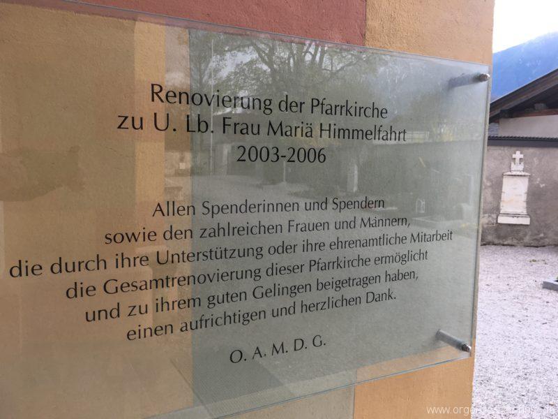 Untermieming A - Pfarrkirche Mariä Himmelfahrt (2)